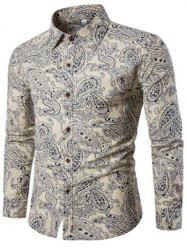 New Spring Men'S Fashion Leisure Slim Shirt PrintingCS2 -