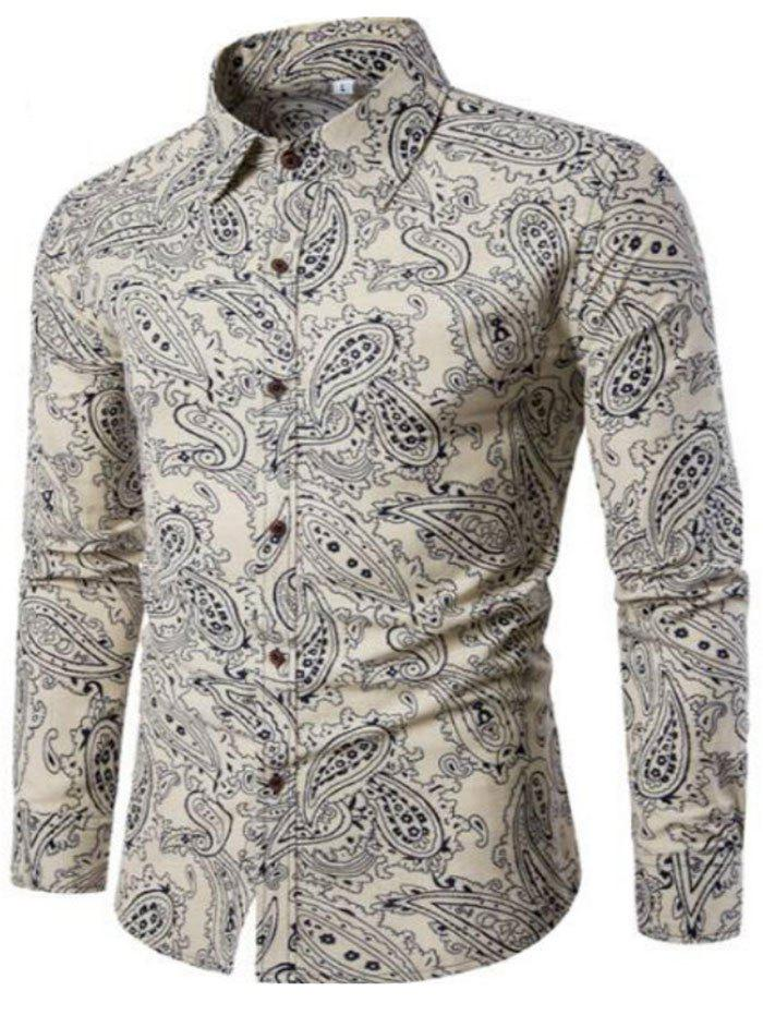 Hot New Spring Men'S Fashion Leisure Slim Shirt PrintingCS2
