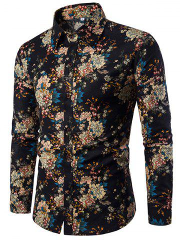 Store Men'S English Style Long-Sleeve Digital Printed Shirt Plus Sizes