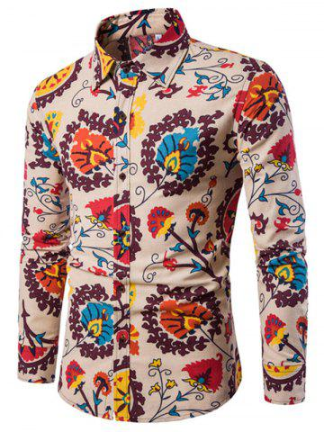 Shop Men'S English Style Long-Sleeve Digital Printed Shirt Plus Sizes