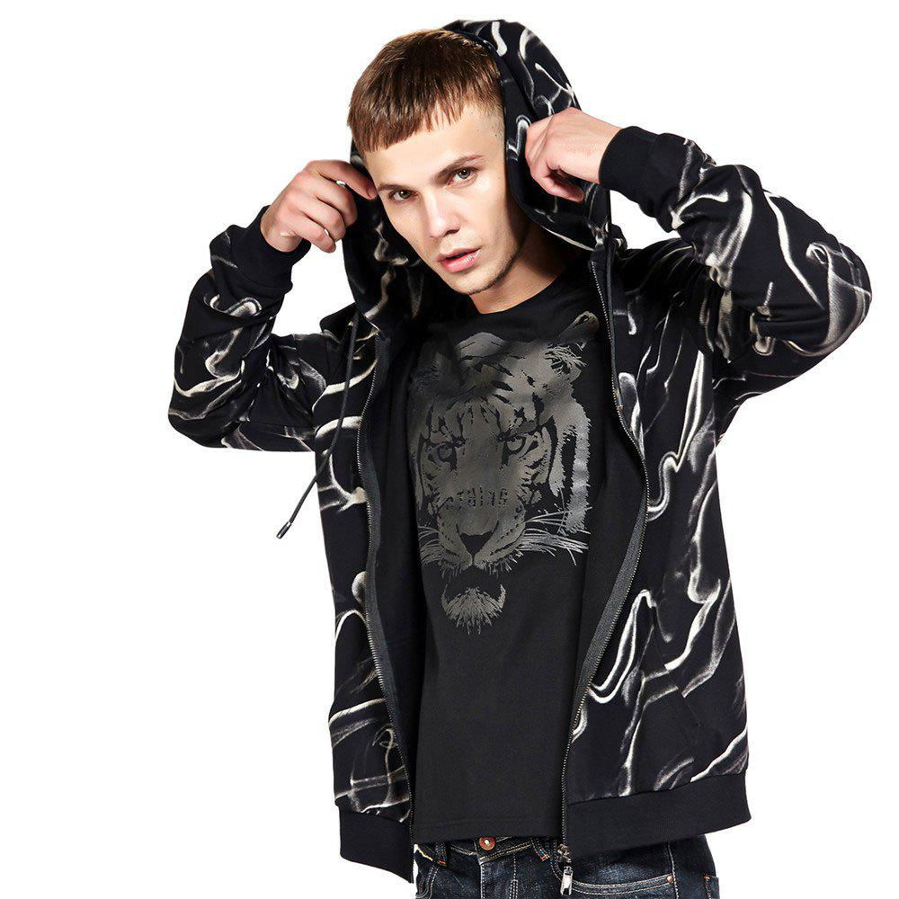 Shop Men's Hoodie Casual Fashion Color Block Print All Match Long Sleeve Hoodie
