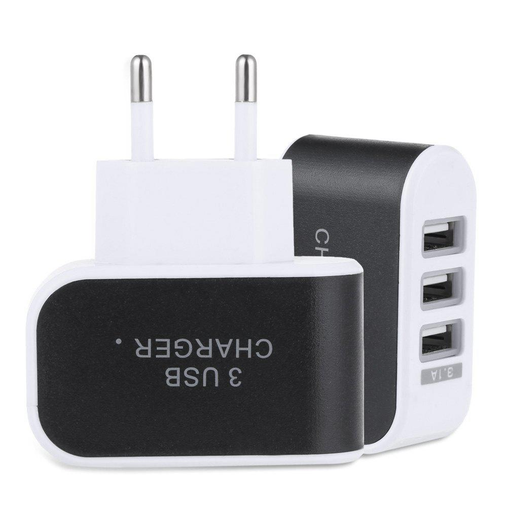 Store 3 USB Ports Coloured Multifunctional 5V 3.1A Universal Travel Charger Adapter