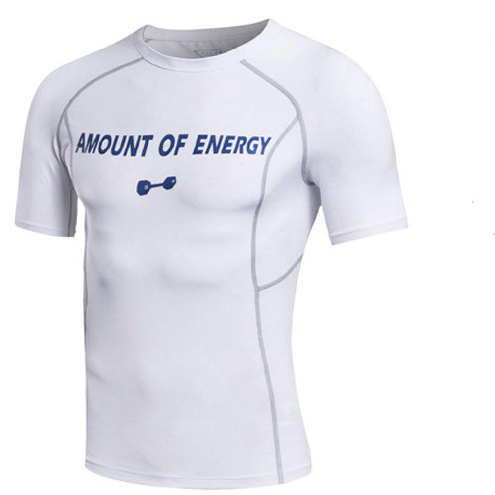 Outfits Men's Sport Compressed Fitness Running Fast Dry Short Sleeved T-Shirts