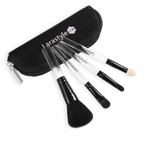 Lara Style 4pcs Mini Make Up Brushes with Cute Bag -