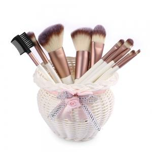 Larastyle 10PCS Deluxe Makeup Brushes with Luxury Black Bag ( Limited Edition ) -