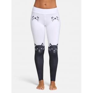 Pantalon long Skinny Skinny à imprimé couleur chat -