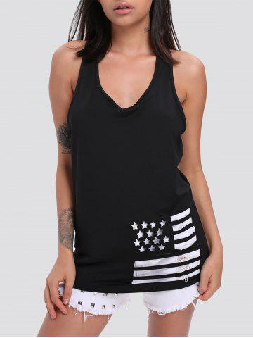 Plunge Neck Hollow Out Trendy Tank Top