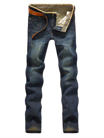 2018 New Men's Vintage Jeans Hommes Straight Slim Pantalons