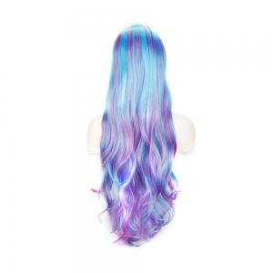 Women Gradient Colorful Cosplay Long Wig -