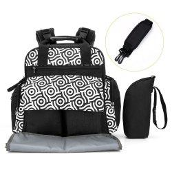 010 Diaper Bag Multifunction Backpack Separate Pockets Adjustable Straps -