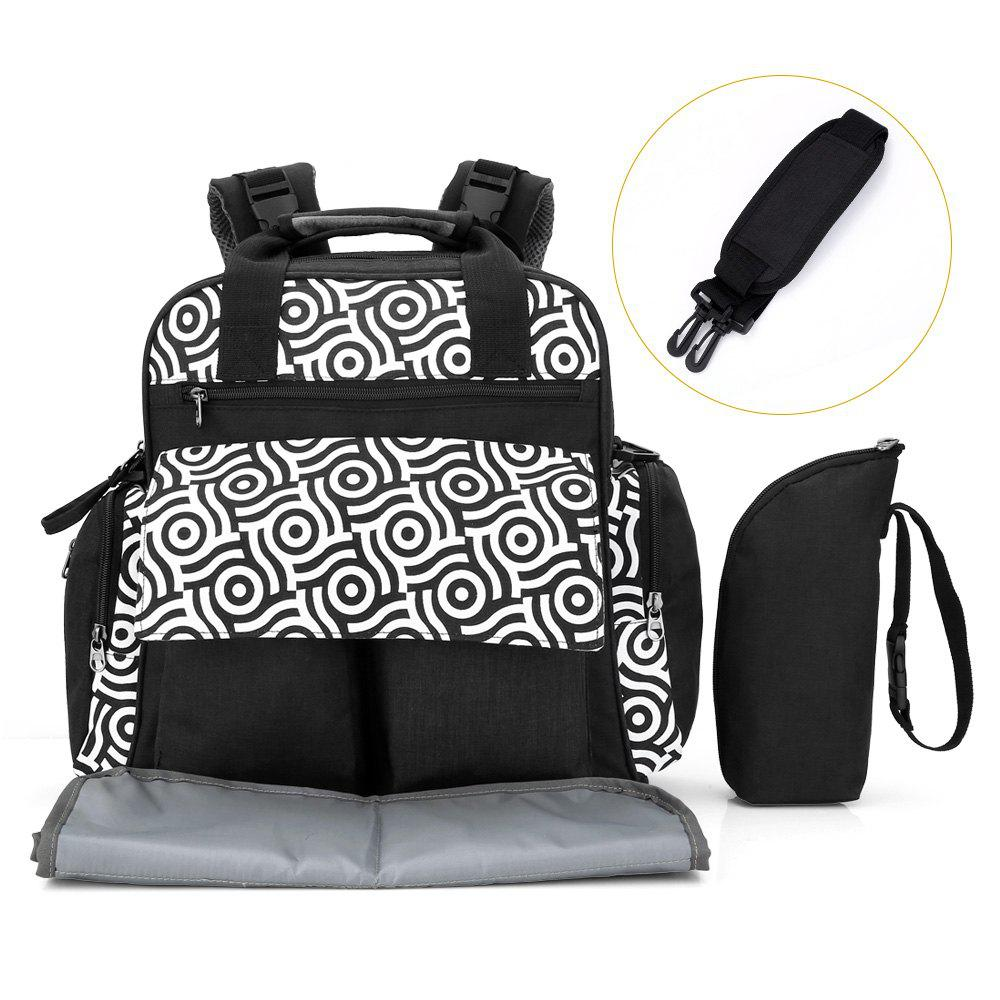 Fashion 010 Diaper Bag Multifunction Backpack Separate Pockets Adjustable Straps