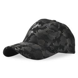 Baseball Cap 6 Panel Hip Hop Men Women Suede Camouflage Adjustable Hat -