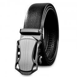 Chic Men Casual Automatic Sliding Alloy Buckle Girdle Leather Belt Strap Waistband -