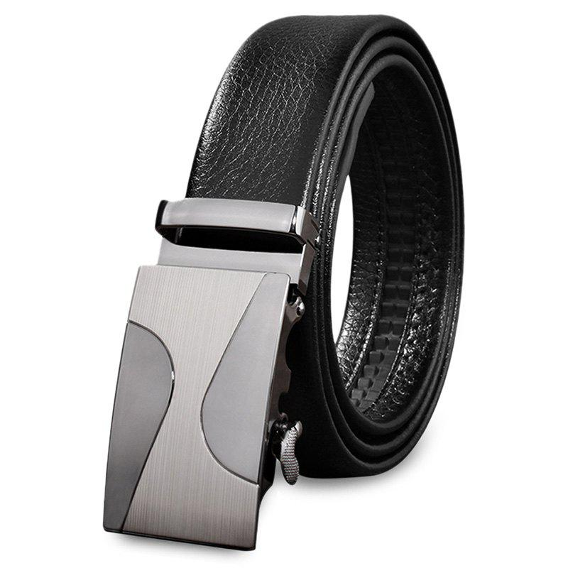 Buy Male Casual Automatic Sliding Alloy Buckle Girdle Leather Belt Strap Waistband