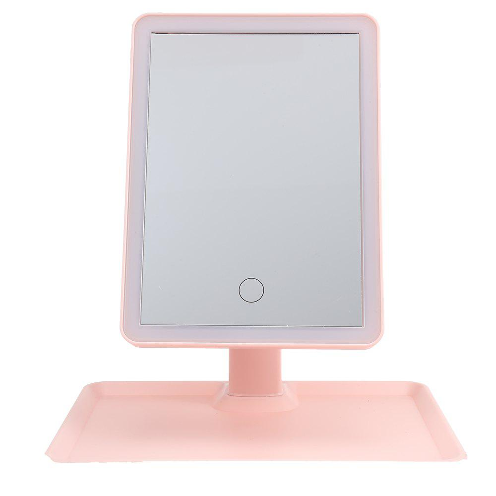 Hot Rotation Intelligent LED Light Makeup Mirror with Rectangular Stand