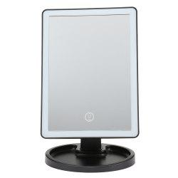 Touch Screen LED Desktop Makeup Mirror with Round Base Plate -