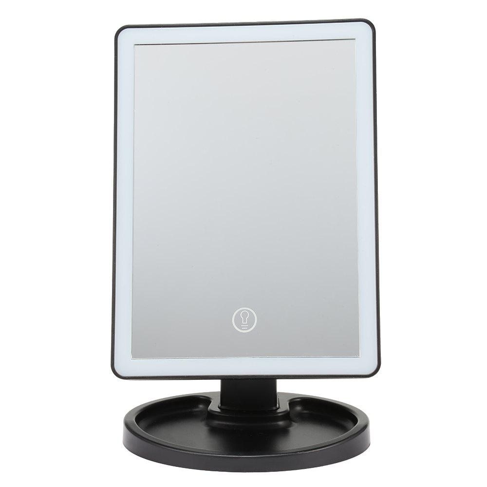 Outfit Touch Screen LED Desktop Makeup Mirror with Round Base Plate