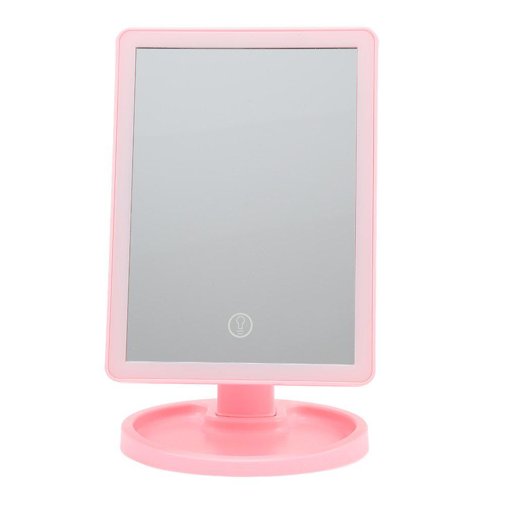 Fashion Touch Screen LED Desktop Makeup Mirror with Round Base Plate