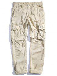 Мужские Loose Cotton Straight Barrel Multi Pocket Casual Wear Pants -
