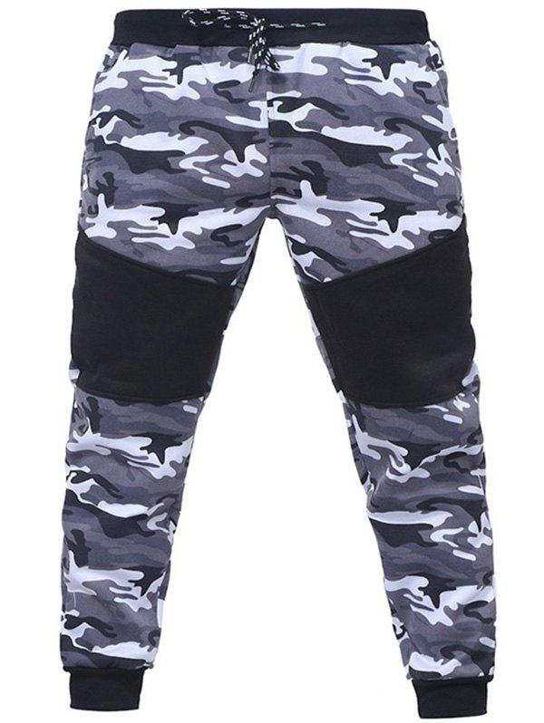 Hot Camo Stitching Casual Sports Trousers