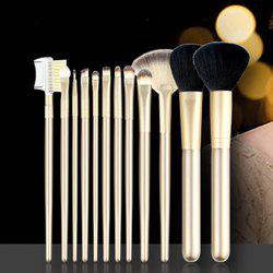 12pcs Make Up Brushes with Luxury Golden Bag ( Collection ) -