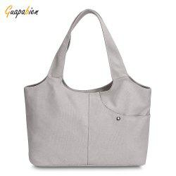 Guapabien Canvas Handbag Shopping Women Shoulder Female Daily Casual Tote Bag -