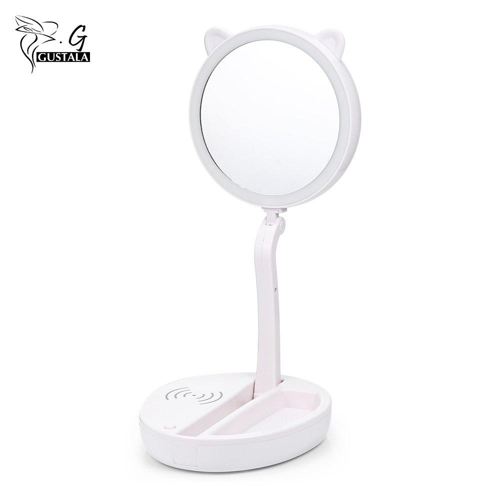 Best gustala SK1801B LED Makeup Vanity Beauty Countertop Folding 10X Magnification Mirror