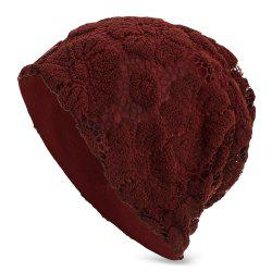 Lace Knitted Warm Skullies Beanies Hat Men Women Daily Outdoor Cap -