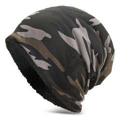 Men Women Warm Skully Hat Beanies Camouflage Thick Soft Stretch Female Male Cap -