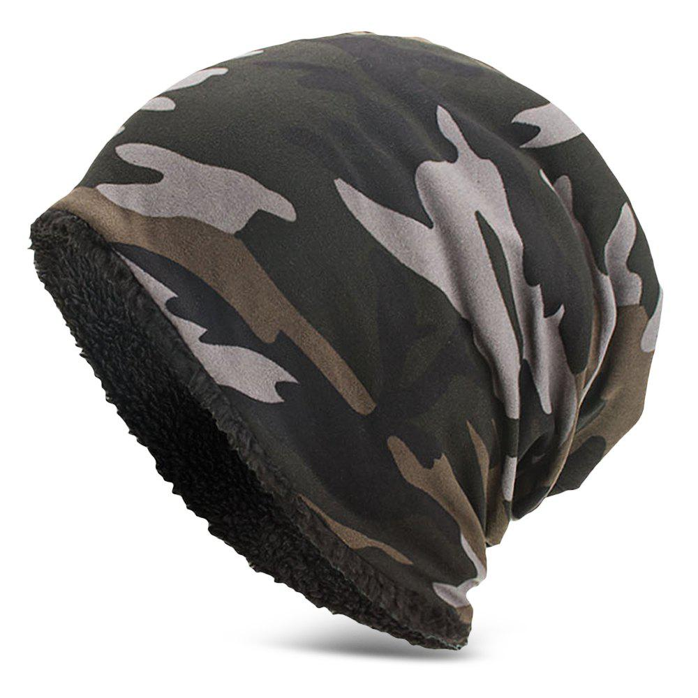 Sale Men Women Warm Skully Hat Beanies Camouflage Thick Soft Stretch Female Male Cap