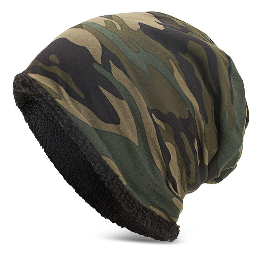 Store Men Women Warm Skully Hat Beanies Camouflage Thick Soft Stretch Female Male Cap