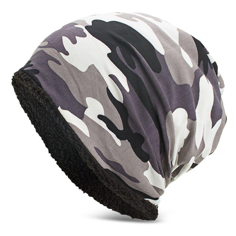 Latest Men Women Warm Skully Hat Beanies Camouflage Thick Soft Stretch Female Male Cap