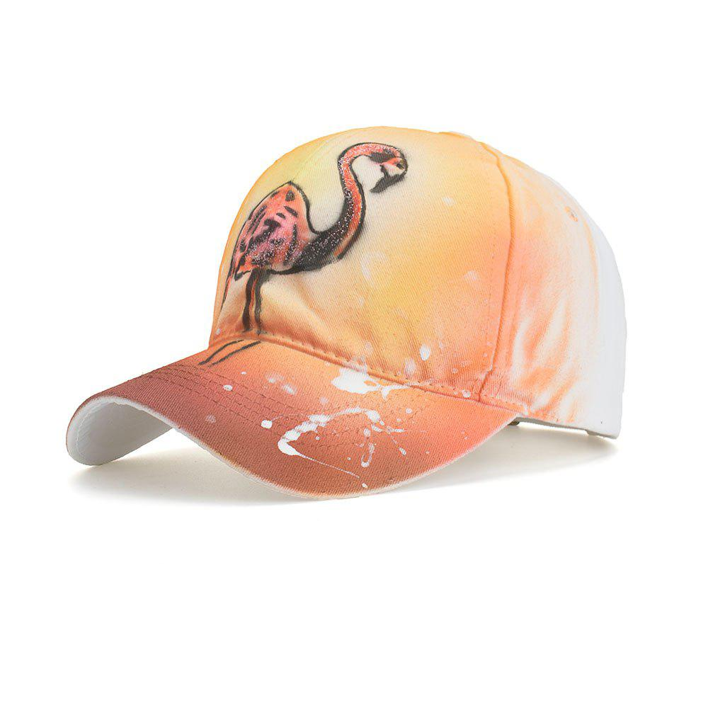 919a3a525 Hand Painted Flamingo Baseball Cap Men Women Casual Breathable Outdoor Hat