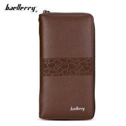 Baellerry PU Leather Men Wallet Coin Pocket Vintage Long Male Money Card Holder -