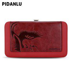PIDANLU Women PU Leather Zipper Wallet Long Purse Bifold Clutch -
