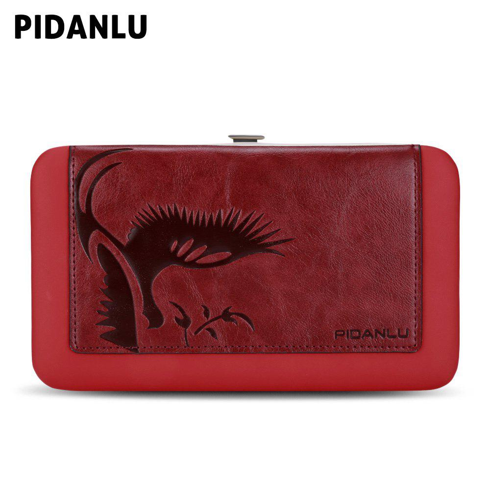 Discount PIDANLU Women PU Leather Zipper Wallet Long Purse Bifold Clutch