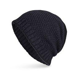 Knitted Wool Cap Fluff Inside Corn Niplet Pullover Casual Outdoor Hat -