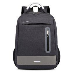 USB Charging Earphone Hole Laptop Backpack Canvas Large Capacity Men Travel Bag -