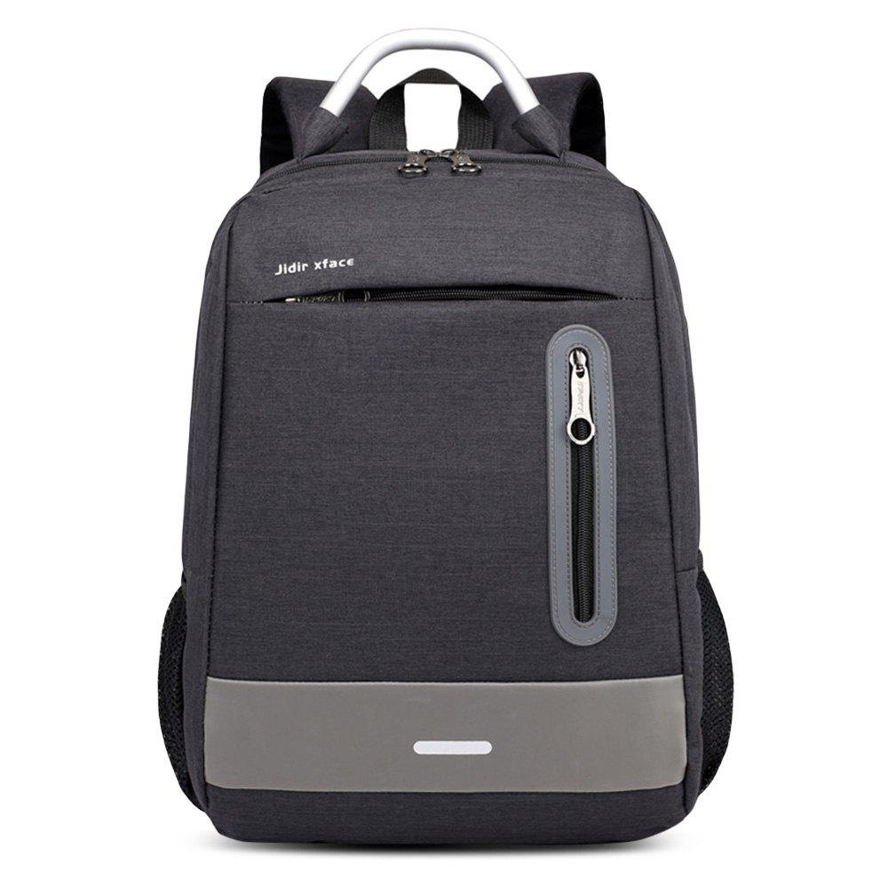 Trendy USB Charging Earphone Hole Laptop Backpack Canvas Large Capacity Men Travel Bag