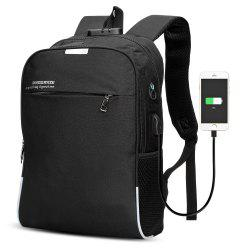 DINGXINYIZU USB Charging Bag Night Reflection Anti-theft Backpack -