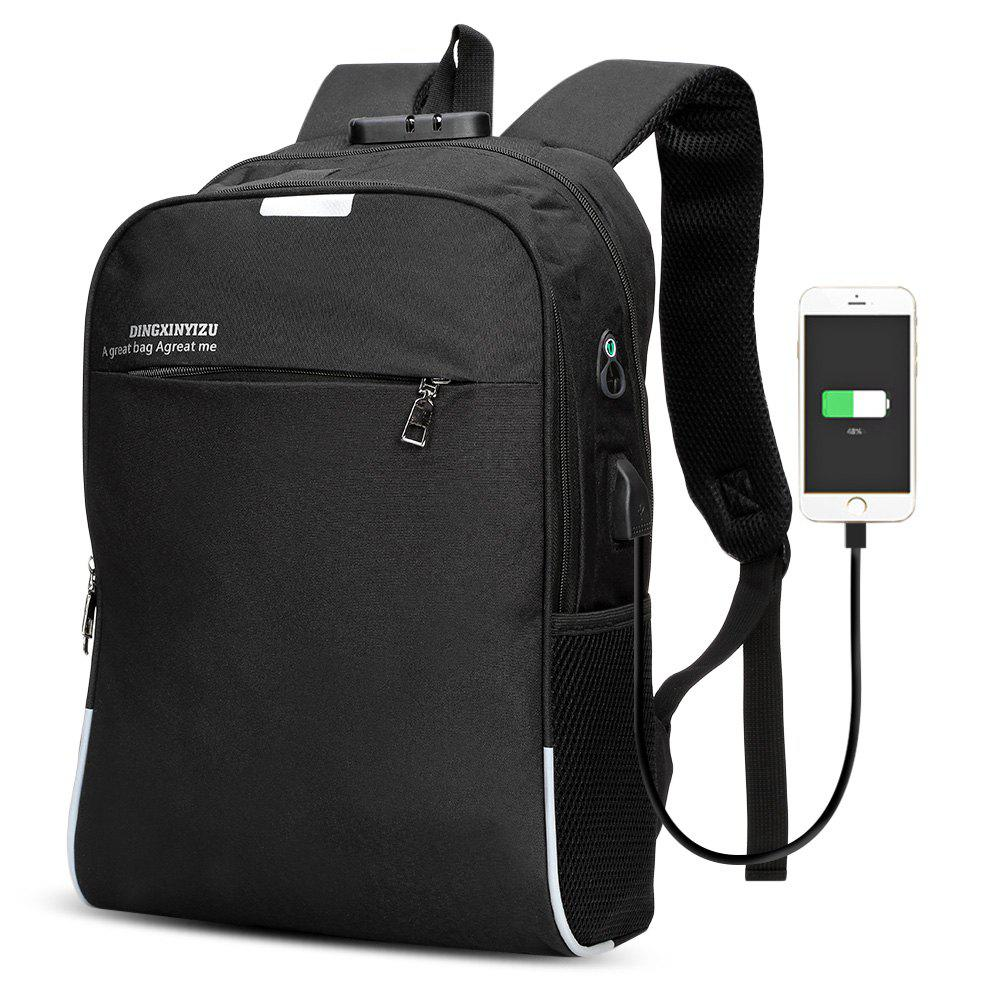 Sale DINGXINYIZU USB Charging Bag Night Reflection Anti-theft Backpack