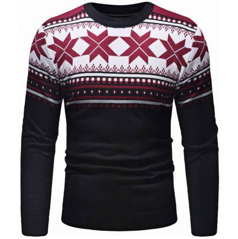 53e4138ec4c5ea Men s Round Neck Pullover Christmas Tree Leaf Decoration Casual Sweater