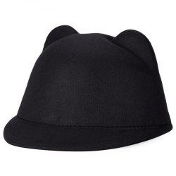 Fashionable Cat Ear Design Solid Color Top Hat for Unisex -