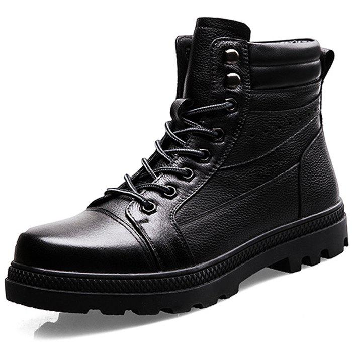Hommes avec velours chaud hiver coton chaussures bottes Ugg High To Help