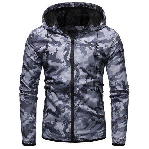 Fashion Men's Camouflage Casual Wild Hooded Jacket