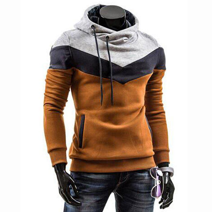 Outfit Men's Plus Size Color Block Sport Casual Hoodie