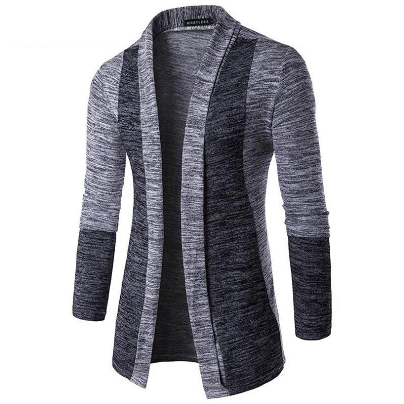 Sale Men's Sweater Cardigan Long Sleeve Fit Casual Knit Cardigan Coat