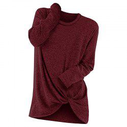 2018 ZANZEA Women O Neck Long Sleeve Flod Solid Casual Blouse Loose Ladies Brief -