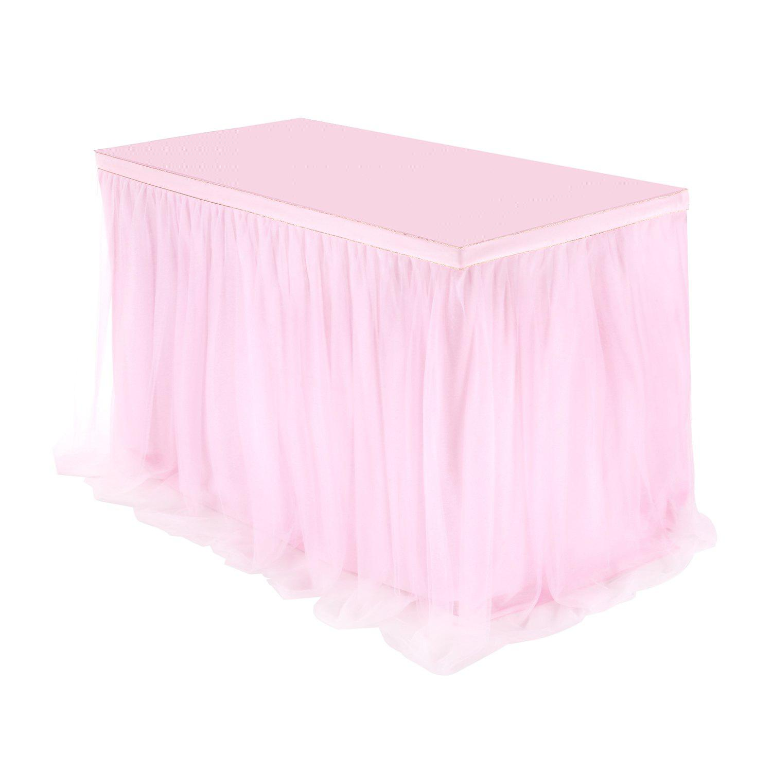 Outfit Famirosa Table Tulle Skirt Party Wedding Birthday Festival Decoration Polyamide