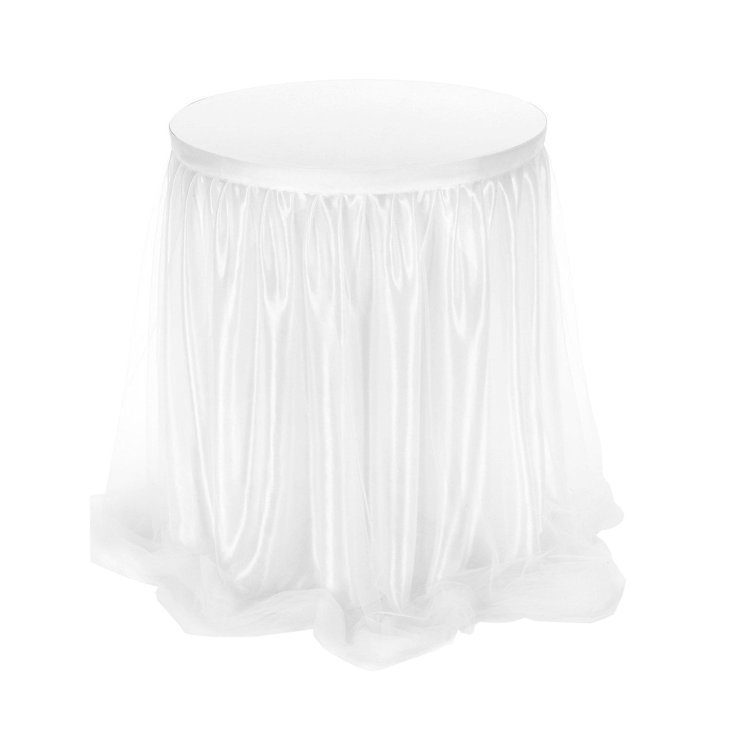 Shop Famirosa Table Skirt Long Tulle Wedding Birthday Party Decoration Polyamide